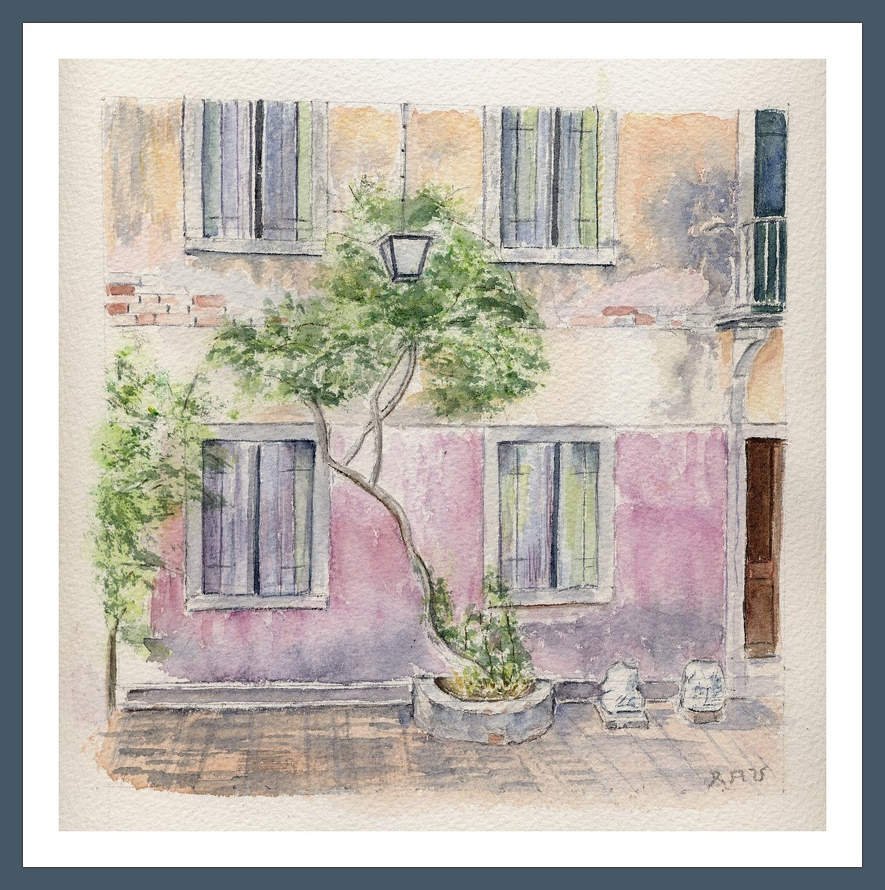 Torcello - Aquarelle copyright Christiane Rau 2015