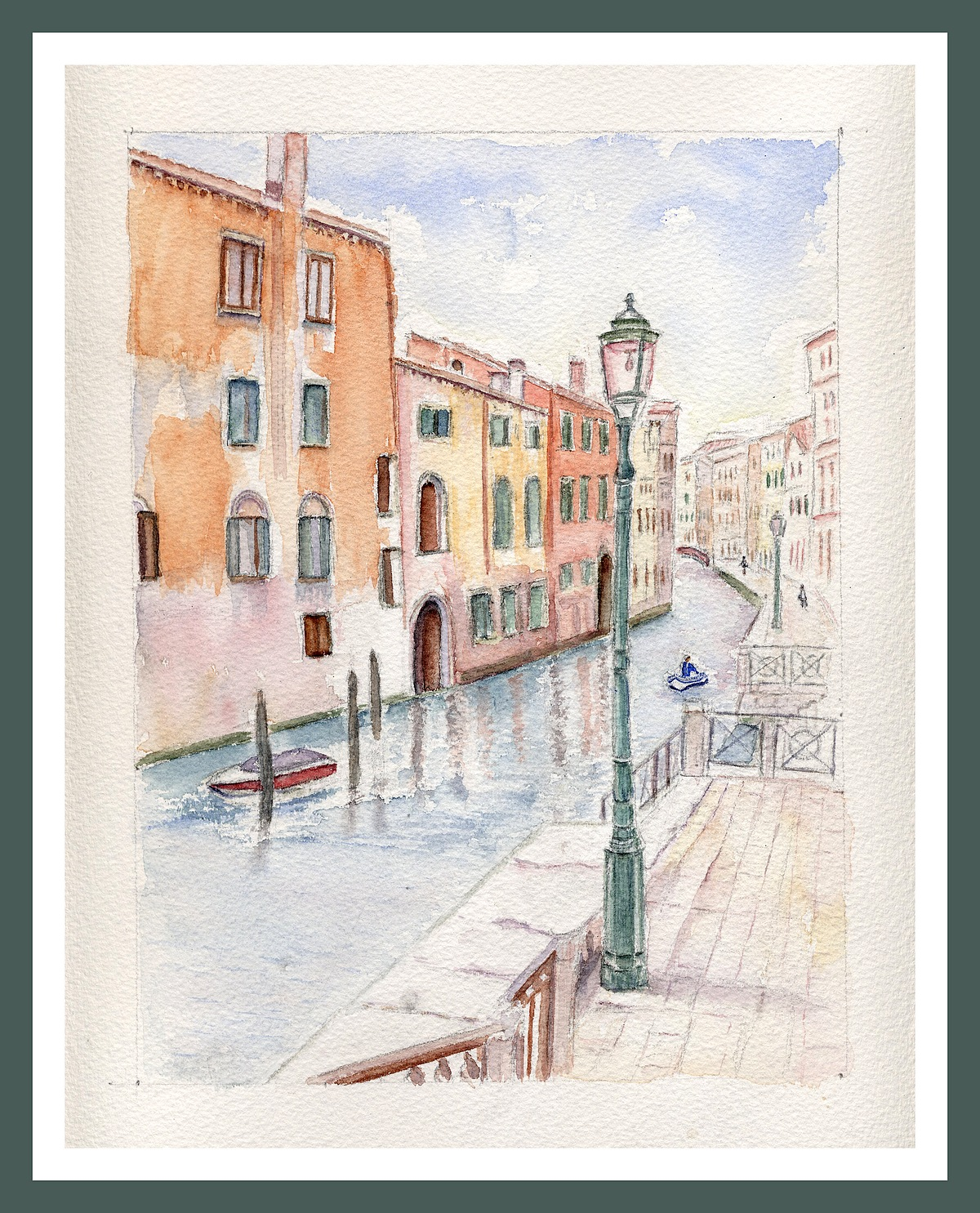 Venise - Rio à San Polo - Aquarelle Copyright Christiane Rau 2011 d'après photo de Michèle Granger